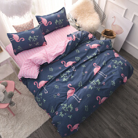 床单三件套可爱学生宿舍1.2米床1.5m单人被单被套床上四件套