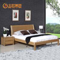 北欧篱笆实木双人床1.8米1.5米单人床水曲柳北欧简约现代实木利来国际ag手机版