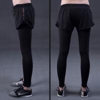 新款运动裤女士速干高弹假两件健身裤紧身透气训练跑步裤一件