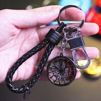 2018新品创意潮汽车钥匙扣 男女款腰挂钥匙圈轮毂金属链包包挂件 *礼品