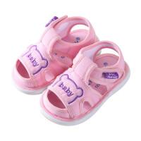 夏季0-1-2岁女男宝宝叫叫鞋软底学步鞋宝宝鞋子宝宝布凉鞋
