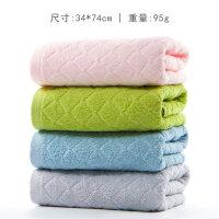 毛巾纯棉洗脸家用柔软吸水男女洗澡批发洗面巾 四条装