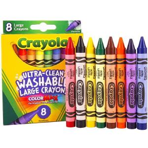 当当自营Crayola 绘儿乐 8色可水洗大蜡笔 52-3280