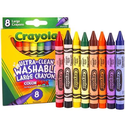 当当自营Crayola 绘儿乐 8色可水洗大蜡笔 52-3280【当当自营】美国儿童绘画品牌,绘本蜡笔