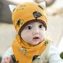 婴儿帽子0-3-6-12个月男女宝宝帽子春秋儿童秋冬季新生儿胎帽1岁