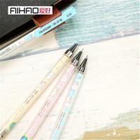 摩易擦中性笔大容量韩国创具学生糖果色可擦水笔批发12支装42501