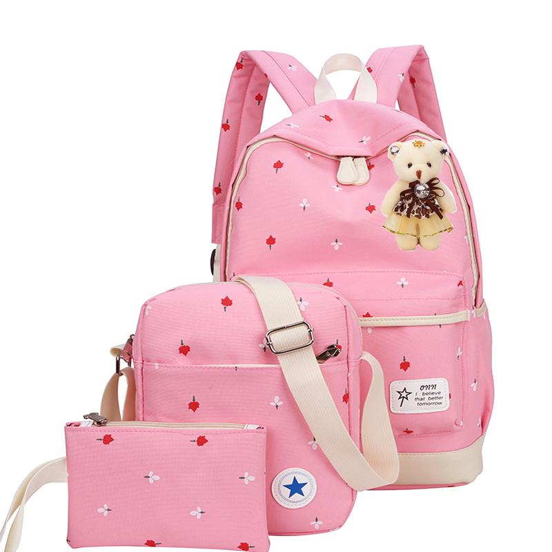 韩版小学生书包女孩1-3-4-6年级儿童6-12周岁女孩背包双肩包