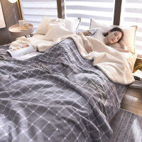 加厚双层毛毯珊瑚绒毯子空调毯拉舍尔毛毯法兰绒盖毯被单双人冬季