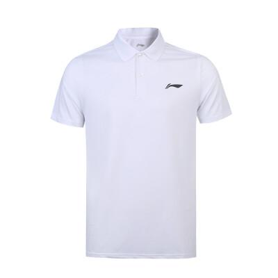 李宁短袖男子运动休闲透气短袖Polo衫夏季翻领上衣T恤APLN327 纯色百搭时尚