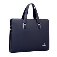 时尚男包手提包男士商务公文包横款单肩斜挎牛皮包休闲4寸电脑包