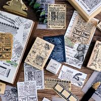 陌墨印章 手帐素材木质印章复古文艺木制手账印章拼贴艺术家系列