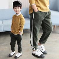童装男童裤子新款中大童休闲春秋儿童运动灯芯绒宽松长裤