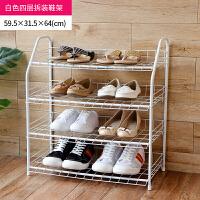 【满减】ORZ 白色四层拆装收纳架鞋架 客厅多功能置物架大容量拖鞋收纳层架