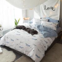 四件套纯棉三件套单双人床被套床单床笠1.5/1.8m床上用品
