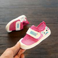 1-3岁宝宝婴儿凉鞋学步鞋子透气夏季男宝宝凉鞋幼儿网鞋网面鞋子