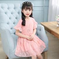 童装裙子女童连衣裙新款韩版儿童公主裙小女孩洋气蕾丝裙潮