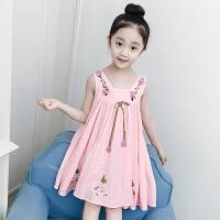 女童连衣裙新款韩版儿童吊带背心裙女孩洋气公主裙裙子潮