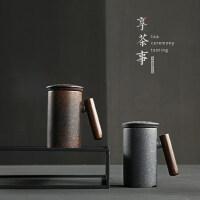 创意马克杯大容量过滤陶瓷茶杯带盖杯子办公室泡茶杯水杯抖音同款