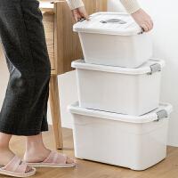 物有物语 收纳箱 透明塑料收纳箱特大号衣服被子玩具储物箱零食整理箱收纳盒