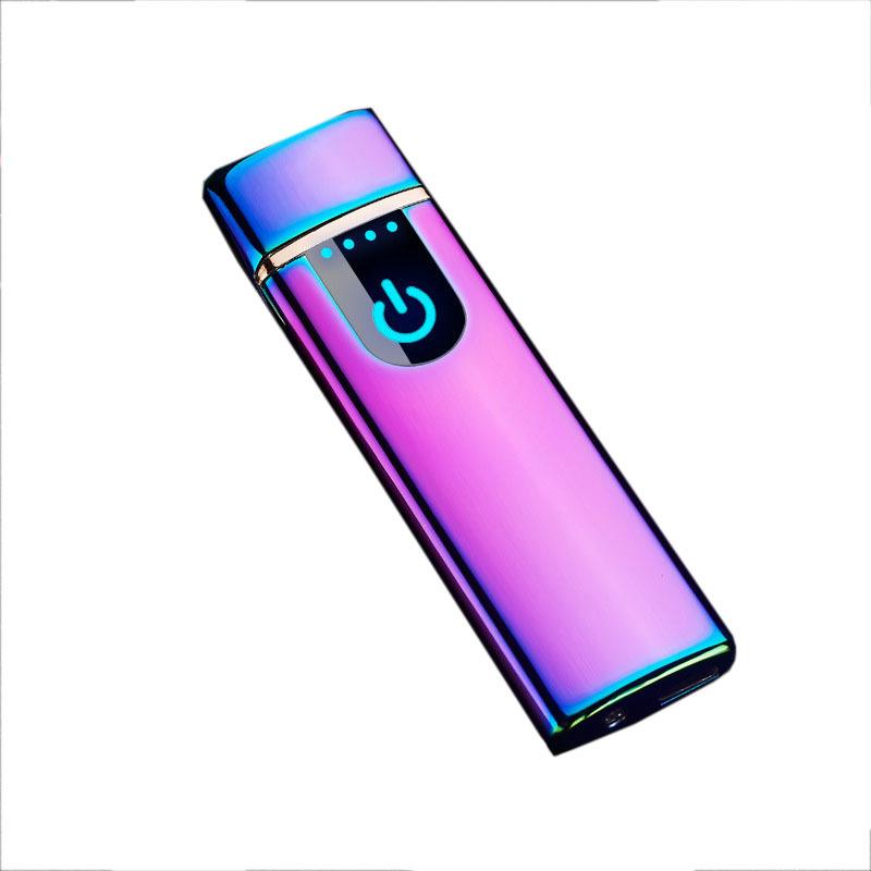 充电打火机 防风触摸感应电热丝点烟器 个性