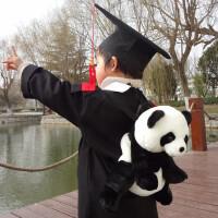 熊猫儿童幼儿园书包毛绒玩具小宝宝卡通公仔男女朋友背包双肩包包