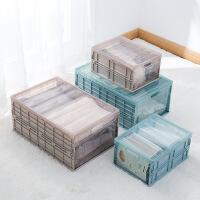 家用收纳箱 塑料可折叠收纳箱杂收纳盒家用衣物整理箱收纳框柜收纳箱子