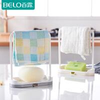 百露可拆卸立式抹布厨房毛巾挂架免打孔台面收纳架肥皂架置物架