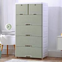 加厚收纳柜子抽屉式多层储物柜塑料宝宝衣柜婴儿童整理柜箱五斗柜