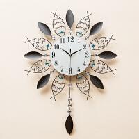 创意钟表设计感挂钟客厅现代简约时钟个性挂表家用石英钟大气壁钟 20英寸
