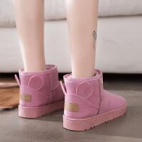 雪地靴女短筒冬季加绒韩版学生百搭保暖棉鞋平底防滑短靴