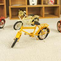 迷你自行车模型做旧铁艺工艺品 家居装饰品摆设 店铺橱窗小摆件