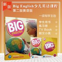 新版big english第二版1级别进口原版培生朗文少儿英语教材学生教材套装含书本练习册朗文小英学生账号+bigTV