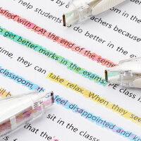 日本文具大赏普乐士创意可爱小清新装饰带日记手账DIY划重点标记彩色花边修正带PLUS蜡笔水彩文字荧光修饰带