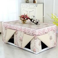 加厚电炉罩烤火罩茶几罩桌布长方形夹棉烤火被套冬季新款取暖桌被 粉红色 12片款
