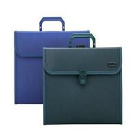 齐心KF412TJ易分类手提式风琴包 票据文件包 事务包 颜色随机