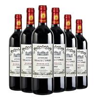 法国原瓶原装进口波尔多AOC干红葡萄酒整箱 红酒6支装