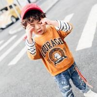 童装男童卫衣春秋新款儿童长袖T恤打底衫上衣圆领中小童韩版