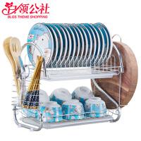 白领公社 沥水架 带卡位碗架晾放盘子架滴水碗碟架子餐具加厚加宽电镀不易生锈收纳置物架多功能大容量储物架厨房用品