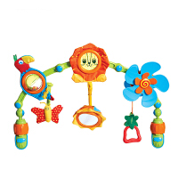 户外便携推车婴儿车挂件玩具架多功能音乐风车铃床铃