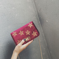 小香风包包女2018新款潮韩版时尚秋冬丝绒小方包简约百搭斜挎小包