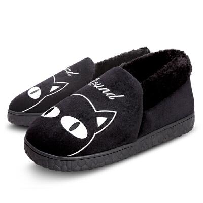 冬季卡通棉拖鞋女包跟棉鞋男厚底加绒室内情侣毛毛鞋居家居月子鞋