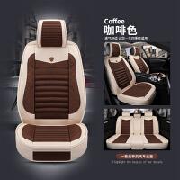 汽车坐垫四季通用全包围亚麻座垫布艺透气小车专用网红座套座椅垫