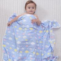 ?婴儿浴巾纯棉纱布洗澡新生儿毛巾被子宝宝盖毯抱被吸水儿童空调被