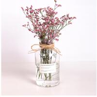 0507112007514 简约田园风创意插水培干花瓶摆塔花瓶欧式地中海玻璃香薰透明