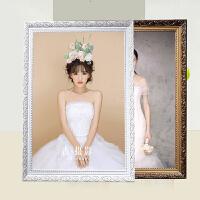 欧式实木相框10 16 18 20 24 寸A3 A4婚纱照片框摆台挂墙定制画框 +(洗照片)