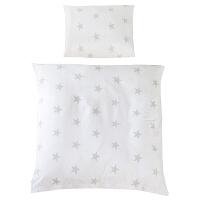婴儿针织被套被罩 全棉宝宝儿童空调被 新生儿床上用品80x80 weiß grau weiß