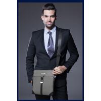 时尚男士包布纹单肩包斜挎包包 防水耐磨商务休闲包潮流背包
