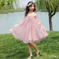 女童连衣裙夏装新款中大童公主裙子女孩蕾丝纱裙洋气背心裙潮
