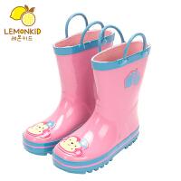 宝宝四季男童女童水鞋耐磨防滑儿童雨靴学生雨天水鞋防水中筒雨鞋 24 (内长16CM)