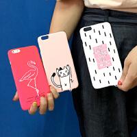 韩国iphone6手机壳6s火烈鸟动物磨砂硬壳潮苹果6plus手机套硬壳